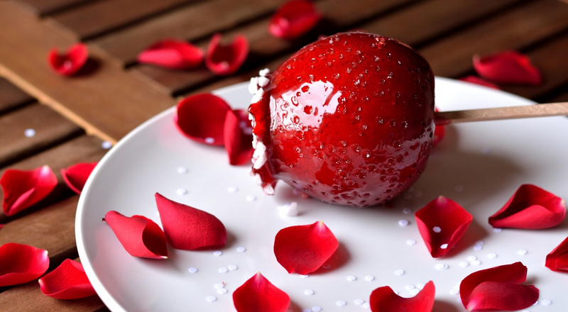 Red, Candied Apples and Rose Petals. Sounds like Romance. Read More.